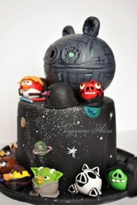angry bird star wars cake3