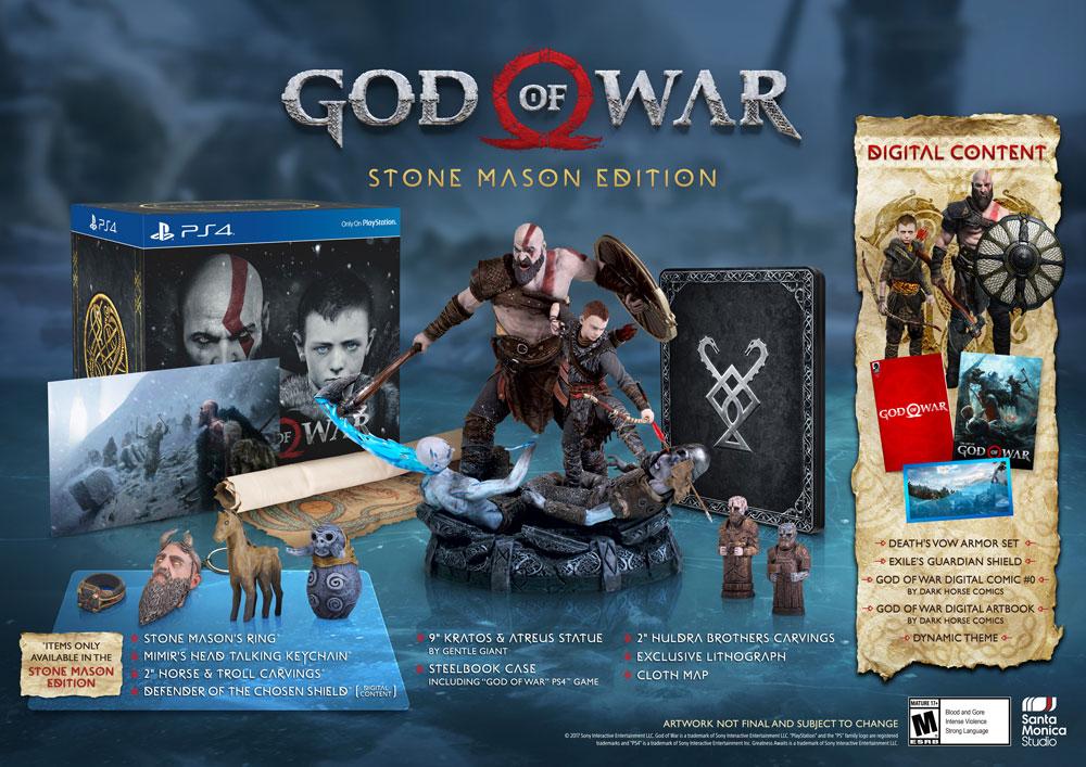 God of War: rivelata la Mason Stone Edition, disponibile da GameStop USA