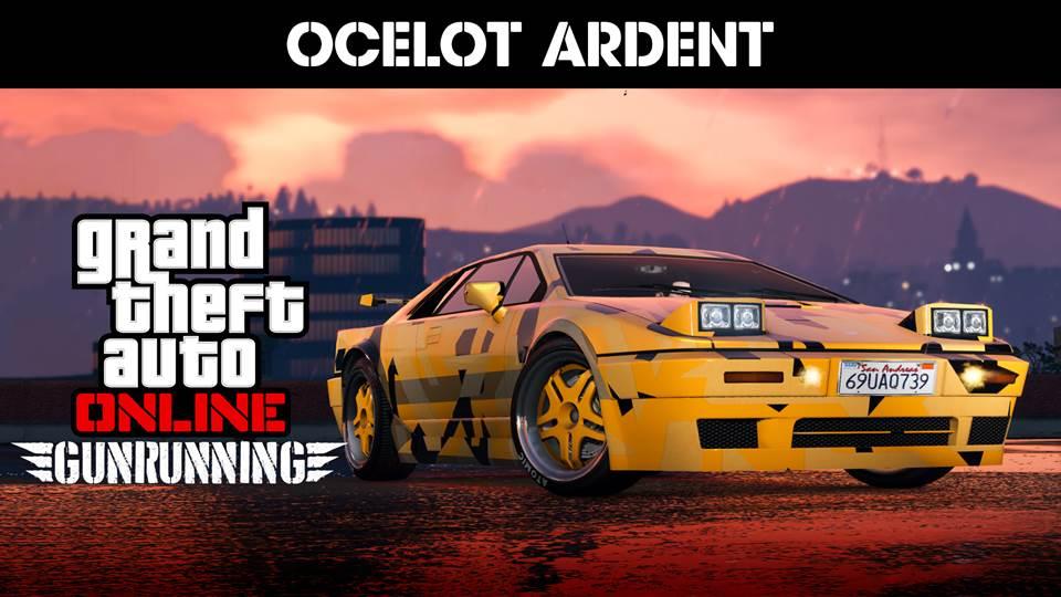 GTA Online: disponibile la Ocelot Ardent, sconti su Bunker e Veicoli