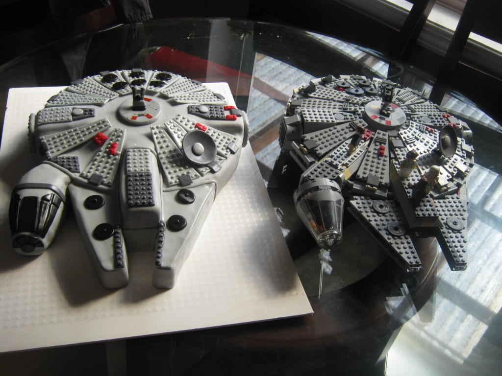 millenium falcon lego by heather