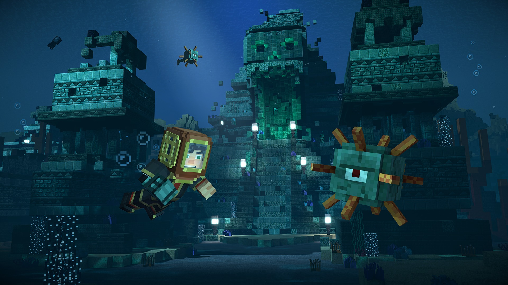 minecraft story mode hero in residence recensione