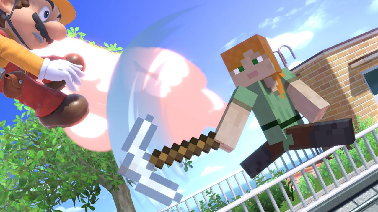 Smash Bros Steve Minecraft