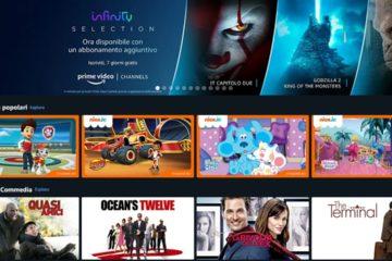 amazon prime video channels italia