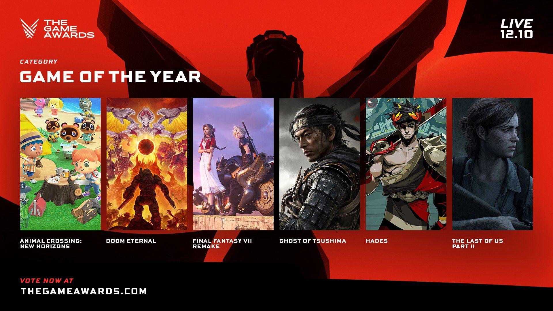 game awards 2020 nomination