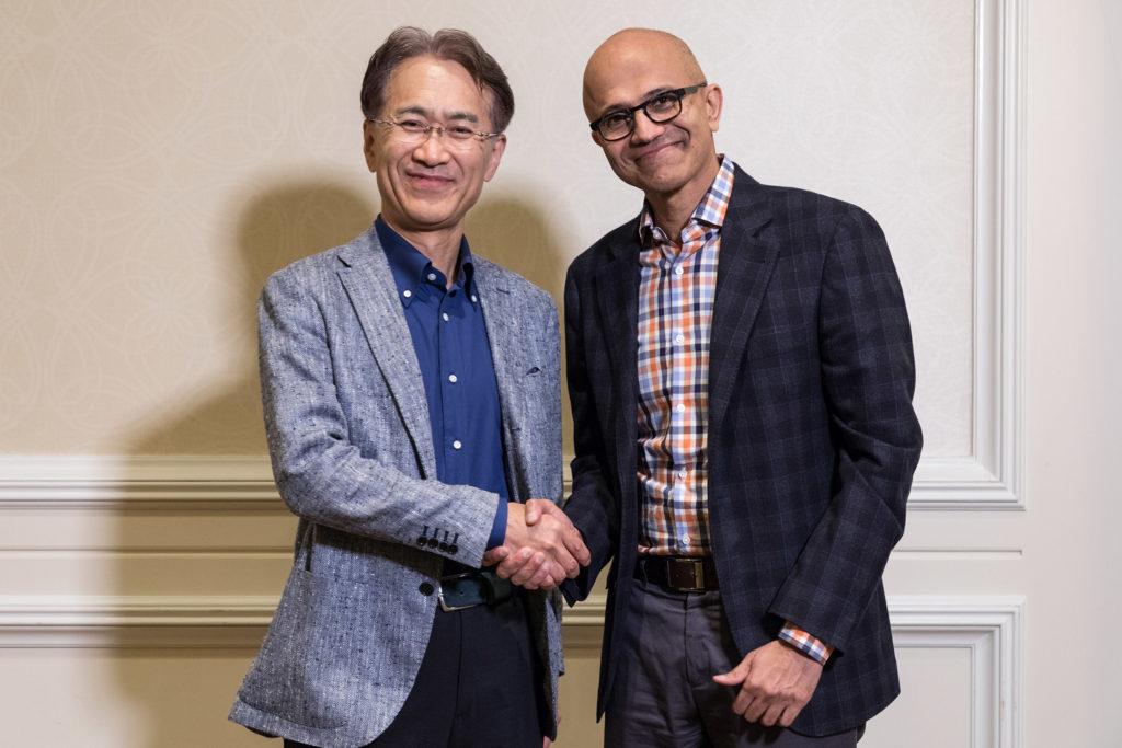 Sony Microsoft cloud