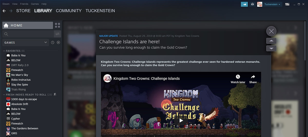 steam nuovo look