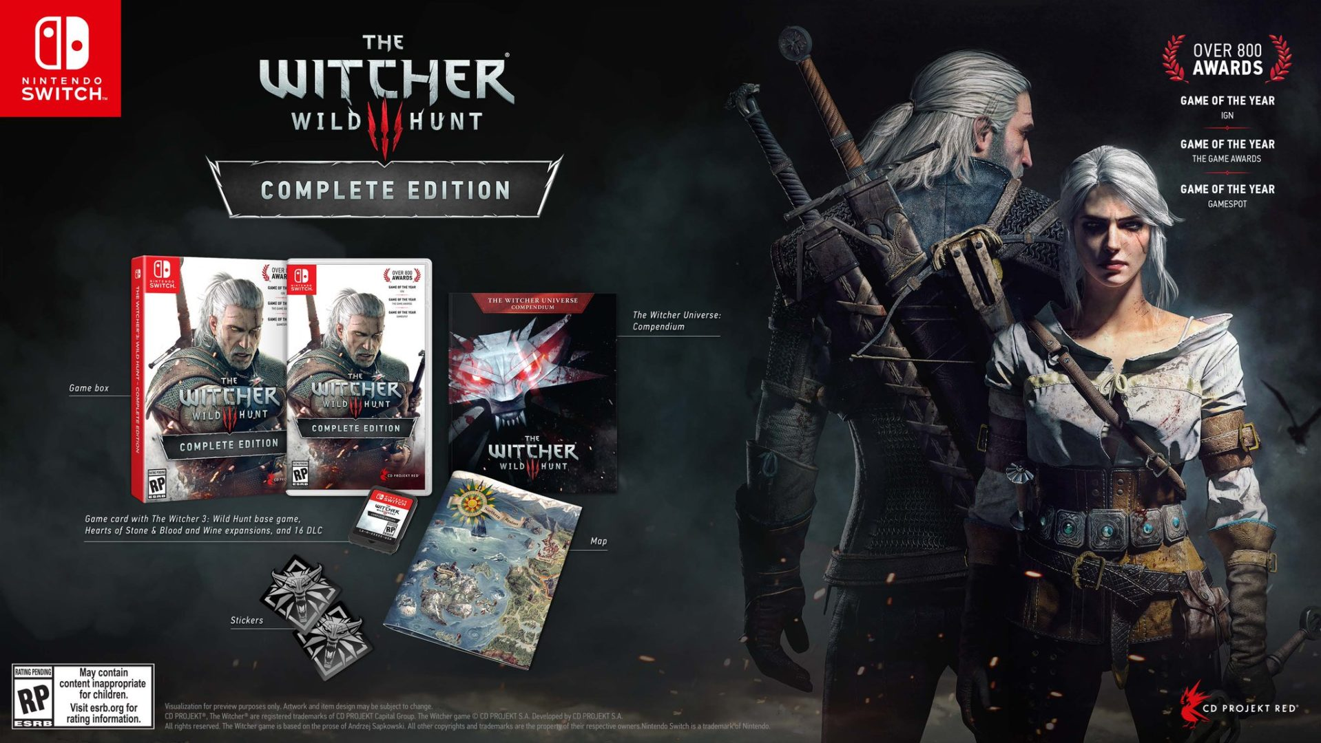 the witcher 3 switch cartuccia1