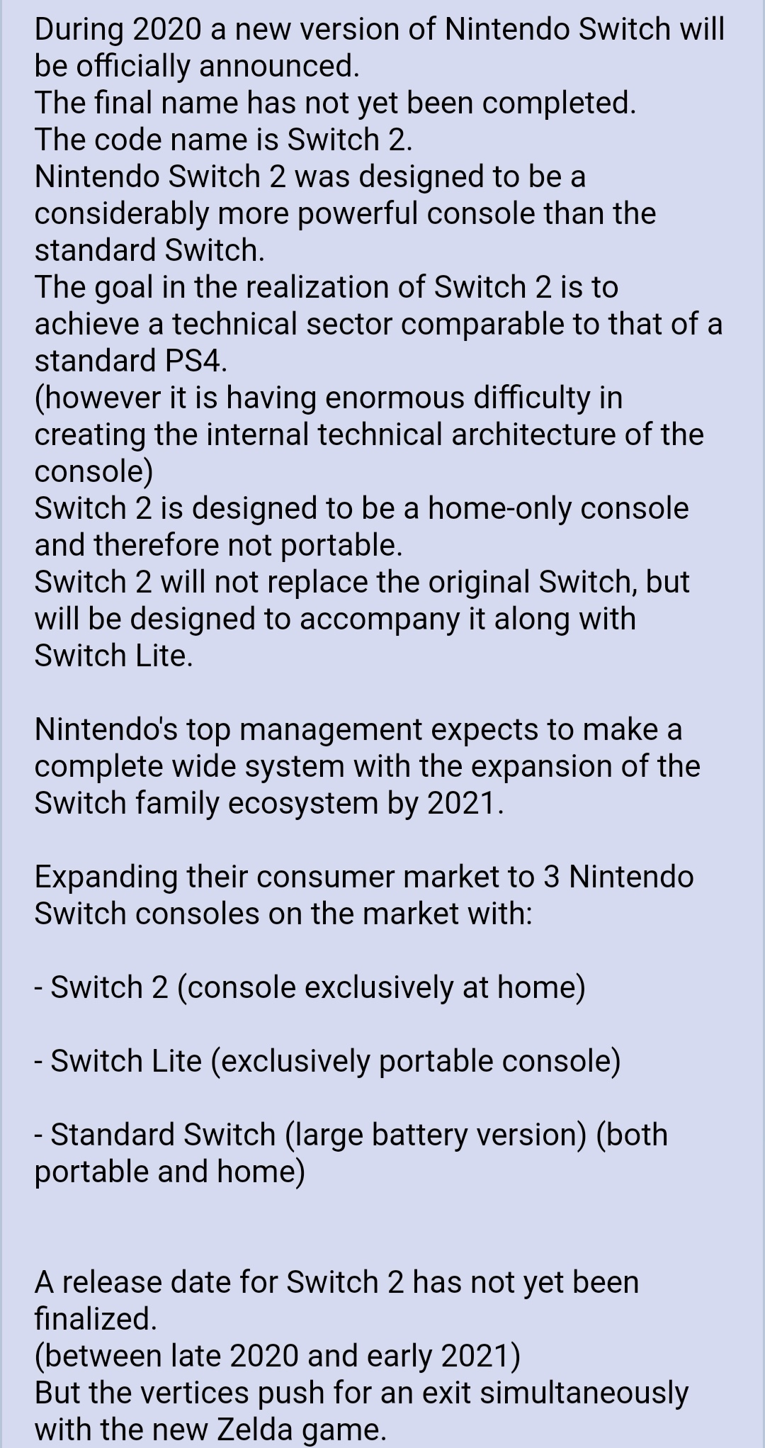 zelda sequel switch pro